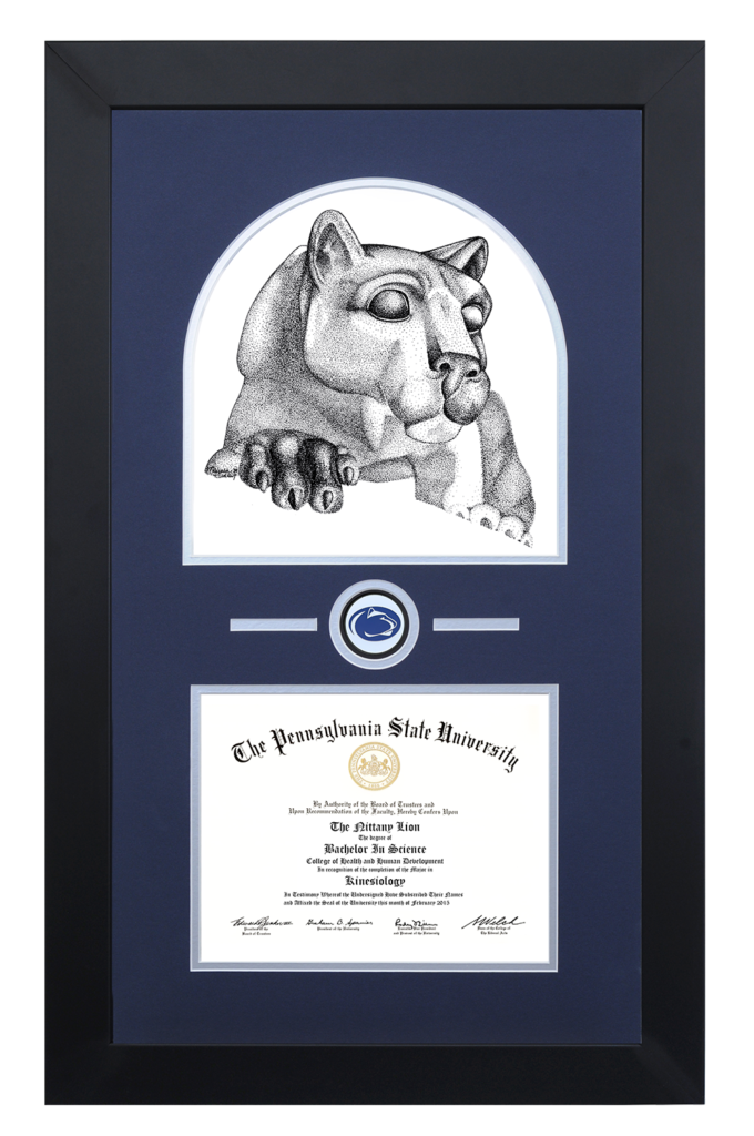 Products Archive - Always A Lion: Penn State Diploma Frames